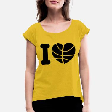 Basketball Lover basketball lover - Women's Rolled Sleeve T-Shirt