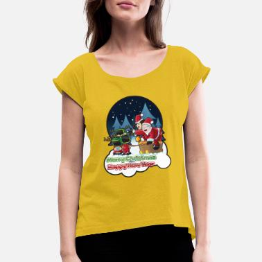 Happy Holidays Happy Holidays - Women's Rolled Sleeve T-Shirt