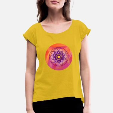 Circle Yoga Painting Meditation Concentration om - Women's Rolled Sleeve T-Shirt