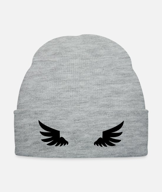 Wing Caps & Hats - wings - Knit Cap heather gray