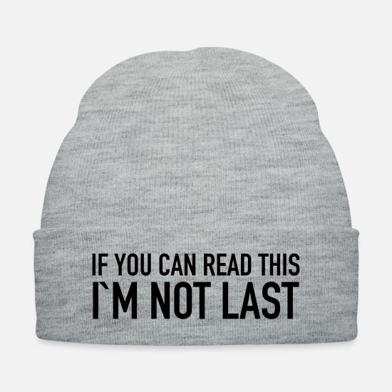 Runner Caps - If You Can Read This I´m Not Last - Knit Cap heather gray