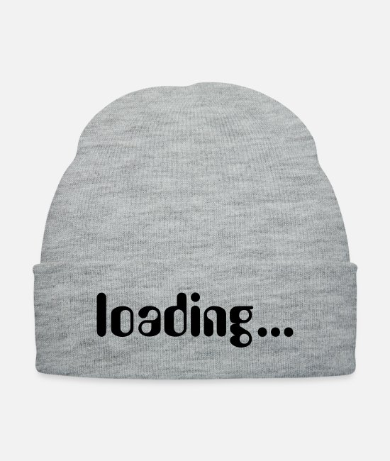 Load Caps & Hats - Loading... - Knit Cap heather gray