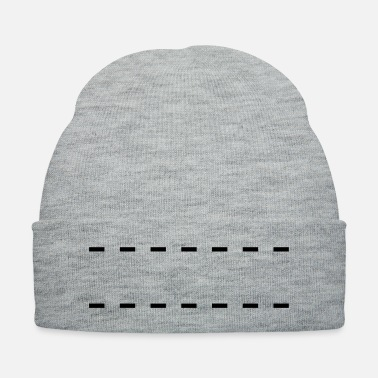 Dash Dashed Lines - Knit Cap