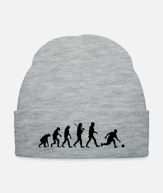 Darwin Caps & Hats - Evolution of Bowling - Knit Cap heather gray