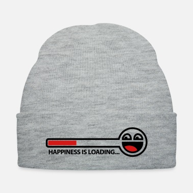 Download happiness_is_loading_2c - Knit Cap