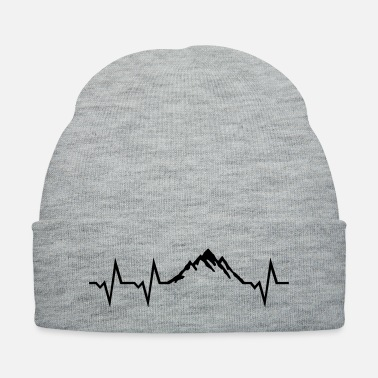 Summit Mountain and ECG Heartbeat - Knit Cap