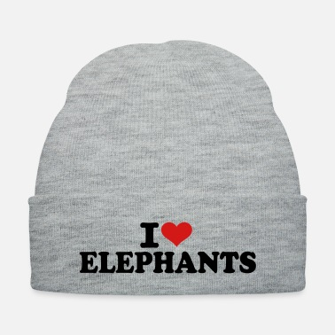 Love I love Elephants - Knit Cap