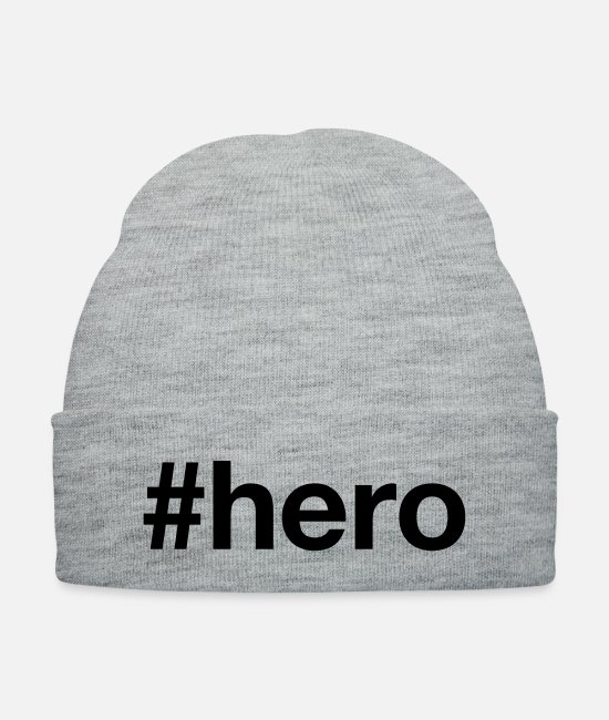 Movie Caps & Hats - HERO - Knit Cap heather gray