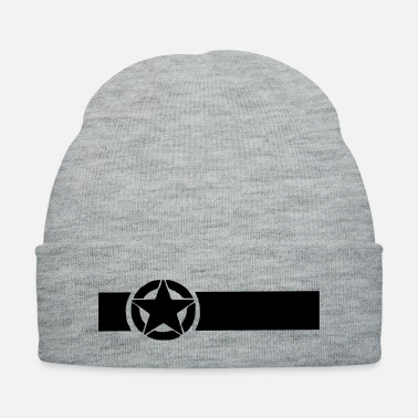 Military Military Star with Band - Knit Cap
