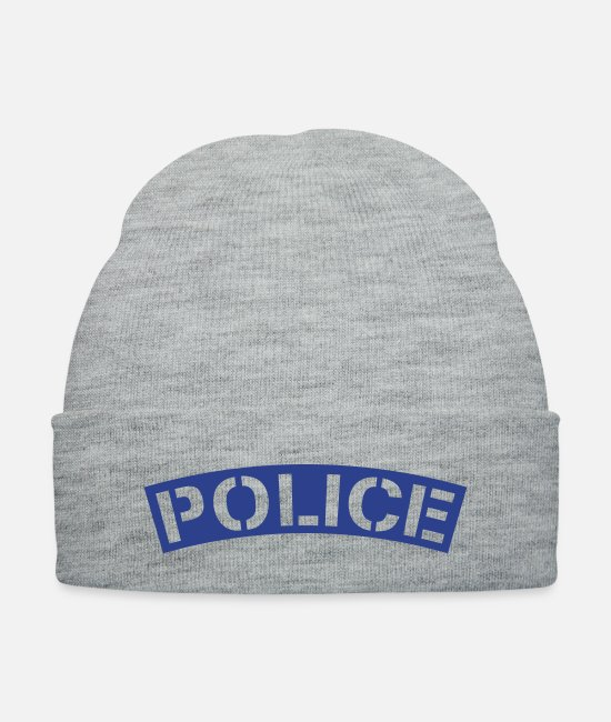 Office Caps & Hats - police_1_f1 - Knit Cap heather gray