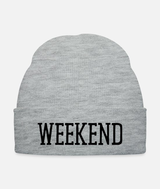 Friday Caps & Hats - WEEKEND - Knit Cap heather gray