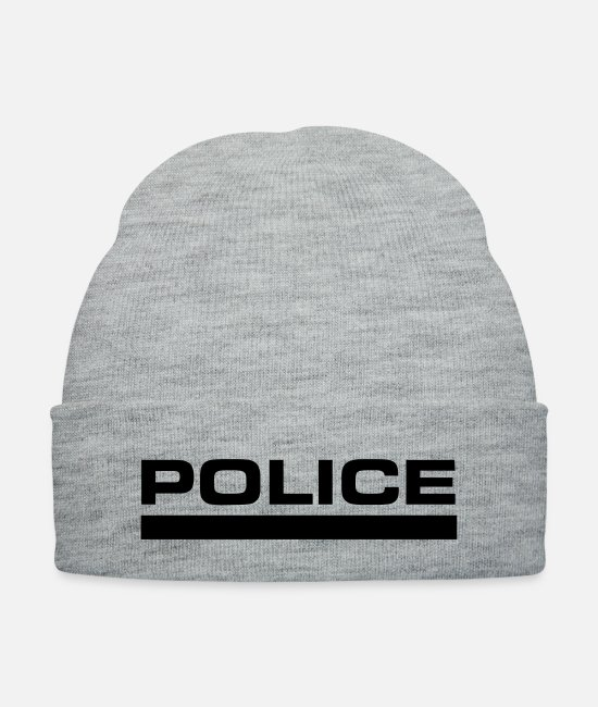 Office Caps & Hats - police - Knit Cap heather gray