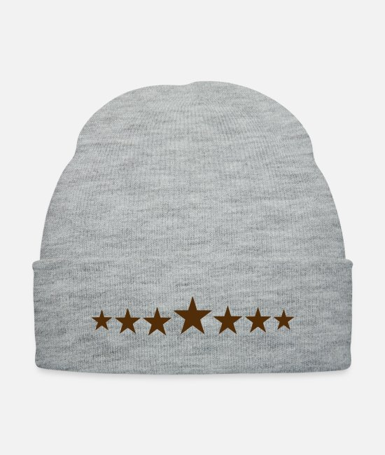Movie Caps & Hats - stars - Knit Cap heather gray