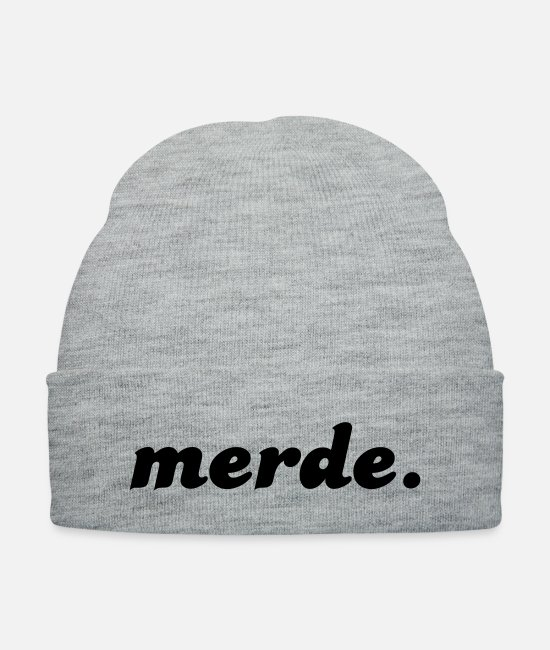 Hipster Caps & Hats - merde - Knit Cap heather gray