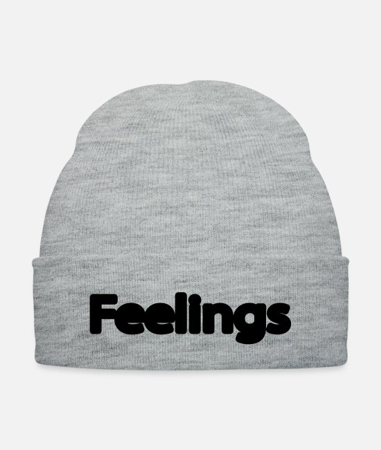 Heart Caps & Hats - feelings - Knit Cap heather gray