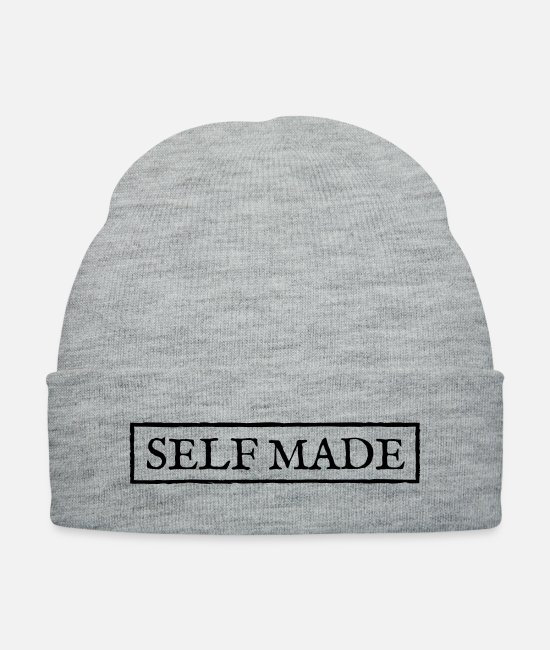 Bred Caps & Hats - selfmade - Knit Cap heather gray