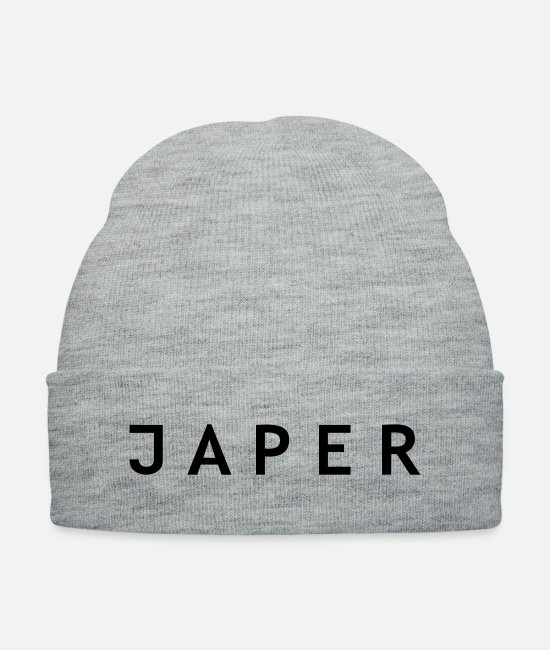 Company Caps & Hats - JAPER-White-Name - Knit Cap heather gray