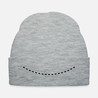 Dash Dashed Curved Line - Knit Cap
