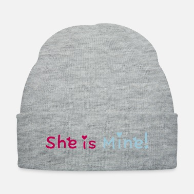 I Love You And Miss You ۞»♥She is Mine!-Vector Romantic Phrase Design♥«۞ - Knit Cap
