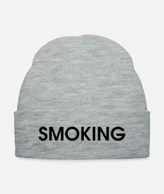 Dull Caps & Hats - smoking - Knit Cap heather gray