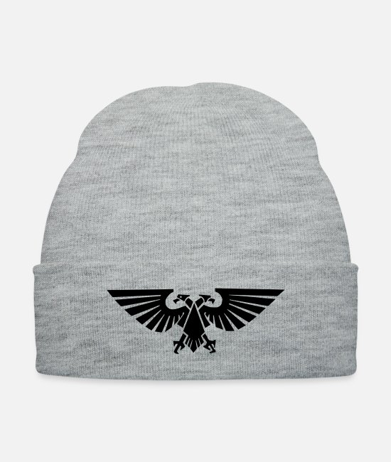 Emperor Caps & Hats - Aquila symbol - Knit Cap heather gray