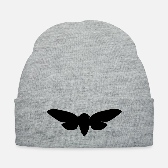 Nature Caps - moth - Knit Cap heather gray