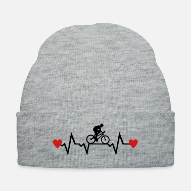 Cyclist Cyclist & Heartbeat with Hearts, cycling - Knit Cap