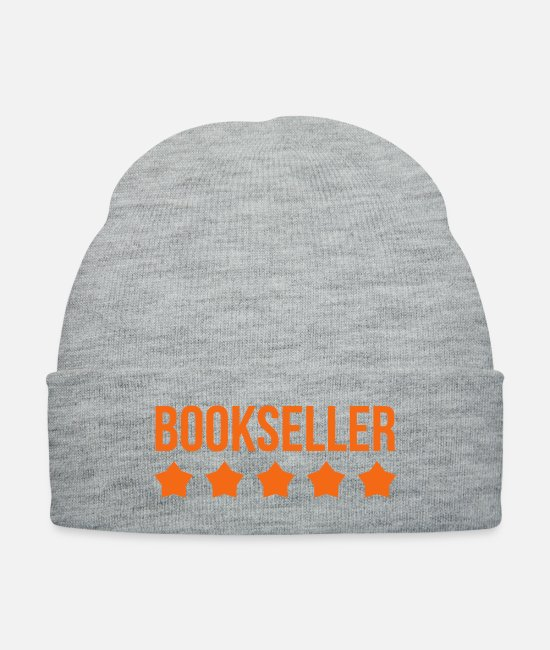 Read Caps & Hats - Bookseller - Reading - Culture - Library - Knit Cap heather gray