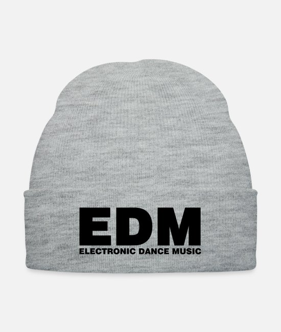 Festival Caps & Hats - ELECTRO,DUBSTEP,EDM,MUSIC,DANCE,ELECTRONIC,MINIMAL - Knit Cap heather gray