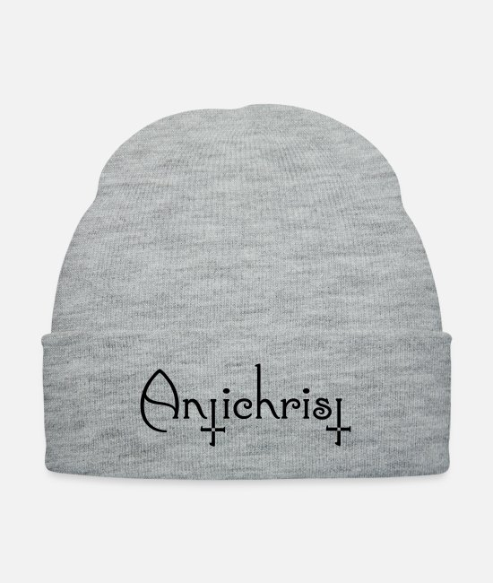Lucifer Caps & Hats - AntiChrist - Lucifer - Knit Cap heather gray