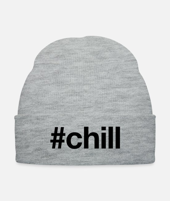 Movie Caps & Hats - CHILL - Knit Cap heather gray
