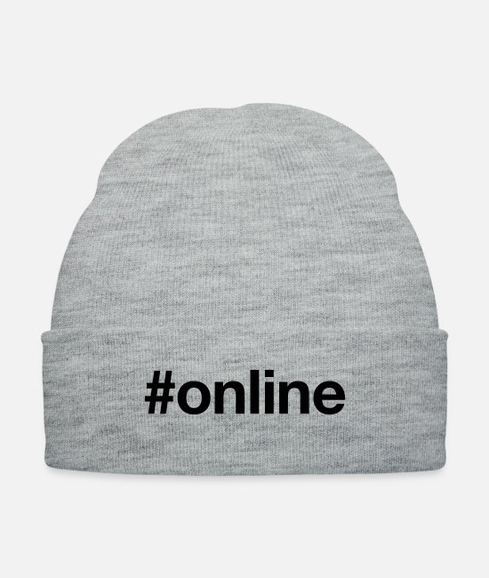 Computer Games Caps & Hats - ONLINE - Knit Cap heather gray