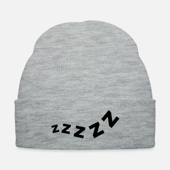 Sleep Caps - zzzzzz__f1 - Knit Cap heather gray