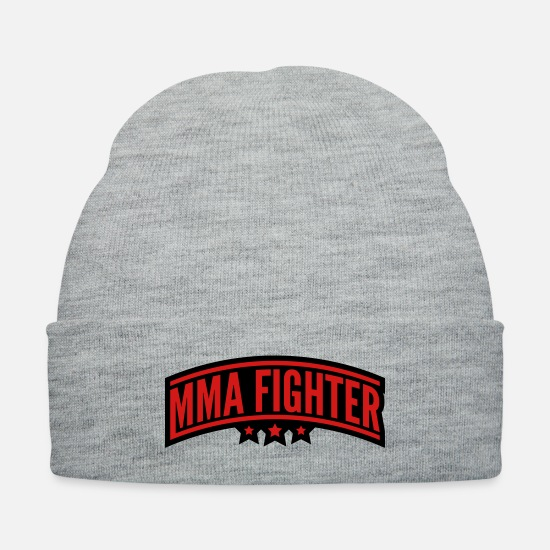 Kickboxer Caps - mma_fighter_vy2 - Knit Cap heather gray