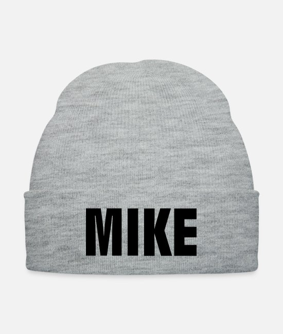 Alphabet Caps & Hats - Mike - Knit Cap heather gray