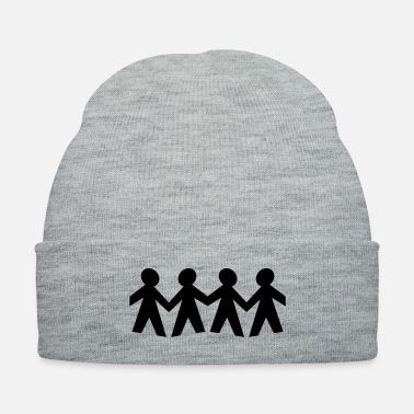 Together Hold hands people and together we are stronger and - Knit Cap