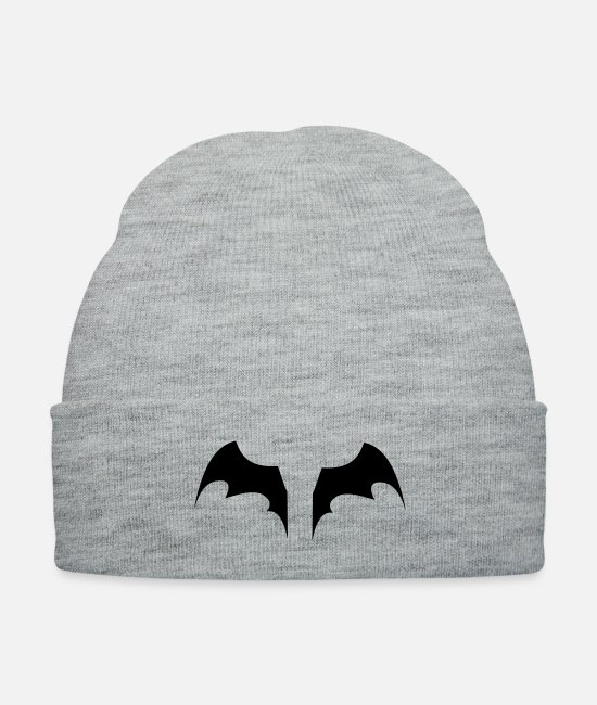 Bruce Caps & Hats - bat - Knit Cap heather gray