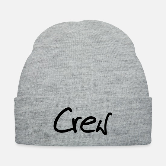 Gang Caps - crew_gf1 - Knit Cap heather gray
