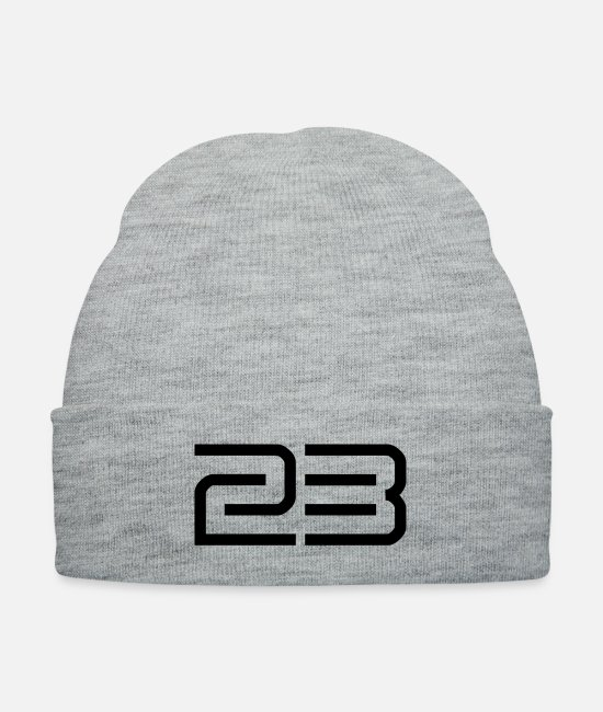 23 Caps & Hats - 230054__23 - Knit Cap heather gray