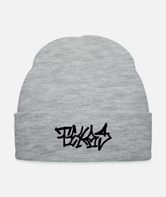 Texas Graffiti Caps & Hats - Texas - Knit Cap heather gray