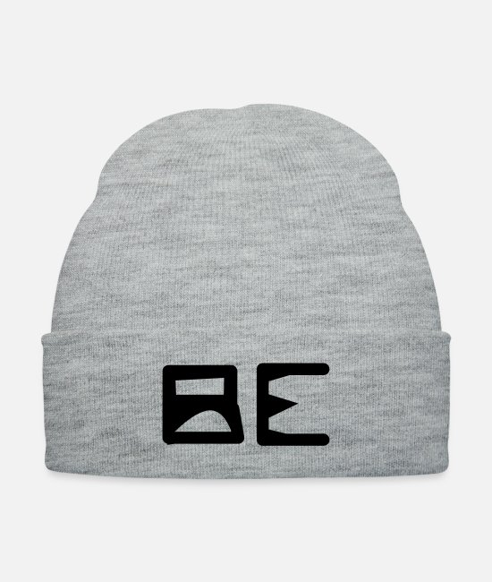 Bumble Bee Caps & Hats - be - Knit Cap heather gray