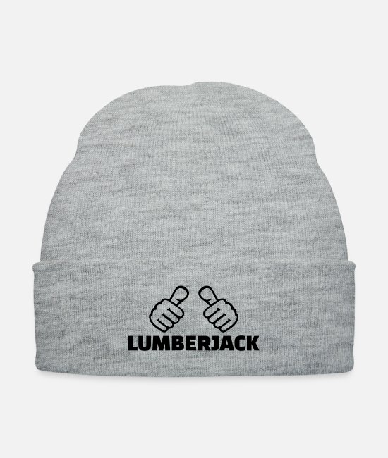 Chain Saw Caps & Hats - Lumberjack - Knit Cap heather gray
