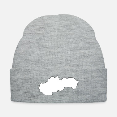 Filling Outline of Slovakia with white fill - Knit Cap