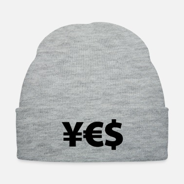 Euro yes yen euro dollar i love money - Knit Cap