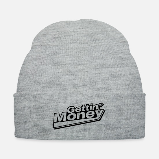 Self Employed Caps - gettin_money_sy1 - Knit Cap heather gray