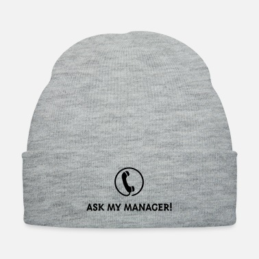 Showman Ask My Manager! - Knit Cap