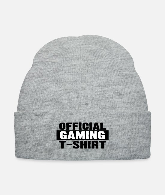 Game Caps & Hats - Official Gaming Shirt - Knit Cap heather gray