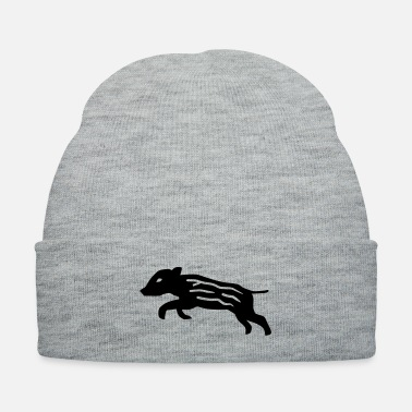 Hog wild boar pig piglet baby youngster hog hunter - Knit Cap