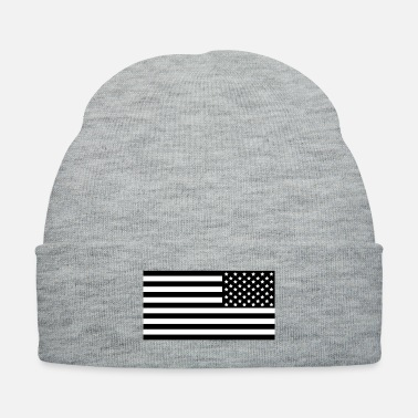 Law Enforcement American Flag Subdued black Reversed - Knit Cap