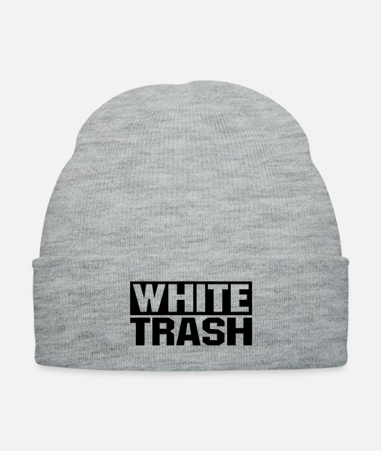 Rap Caps & Hats - White Trash - Knit Cap heather gray